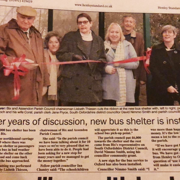 New Bus Shelter for Bix and Assendon Parish Council