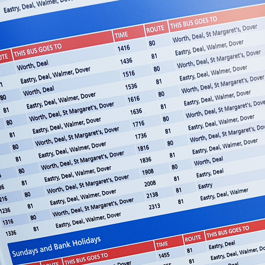 Stagecoach East Bus Stop Timetables