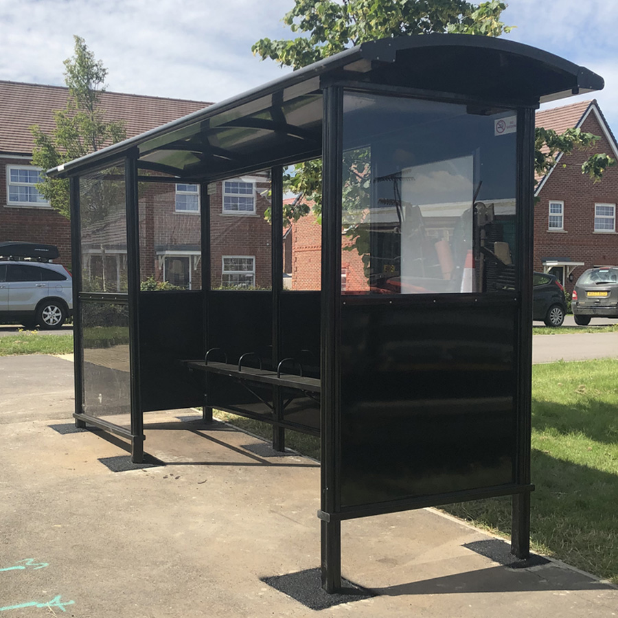 Three new bus shelters in Thame, Oxfordshire
